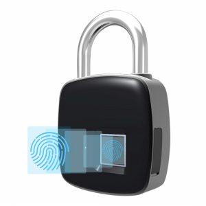 UK-8011-FL UKPLUS Smart Fingerprint Padlock Biometric, Waterproof